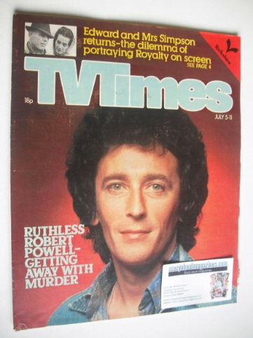 <!--1980-07-05-->TV Times magazine - Robert Powell cover (5-11 July 1980)