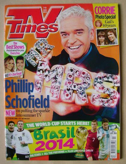<!--2014-06-07-->TV Times magazine - Phillip Schofield cover (7-13 June 201