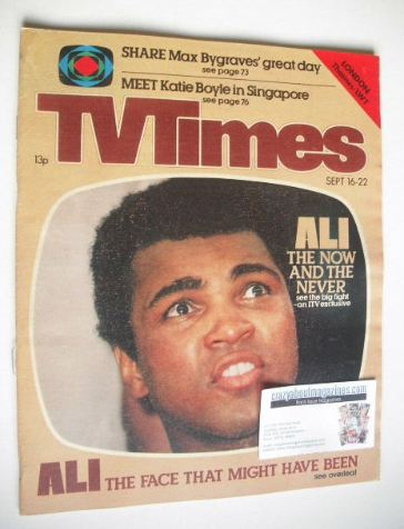 <!--1978-09-16-->TV Times magazine - Muhammad Ali cover (16-22 September 19