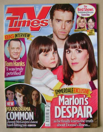 <!--2014-07-05-->TV Times magazine - Mark Charnock, Verity Rushworth and Am