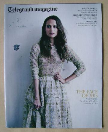 <!--2015-01-03-->Telegraph magazine - Alicia Vikander cover (3 January 2015