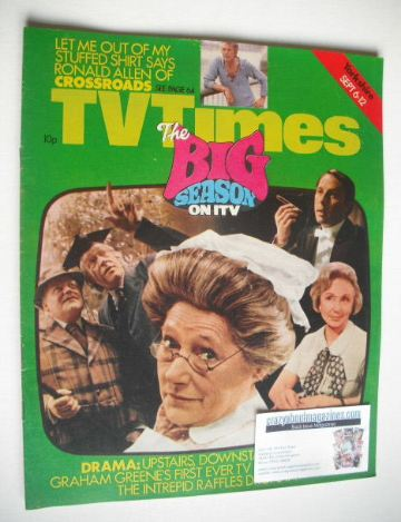 <!--1975-09-06-->TV Times magazine - The Big Season on ITV cover (6-12 Sept