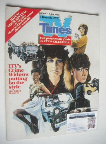 <!--1983-03-26-->TV Times magazine - Crime Widows cover (26 March - 1 April