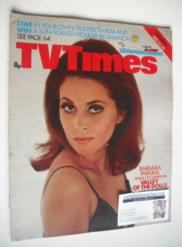 <!--1975-02-22-->TV Times magazine - Barbara Parkins cover (22-28 February