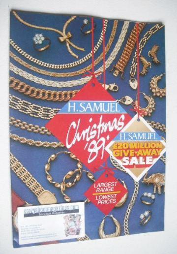 H. Samuel Christmas 1989 brochure