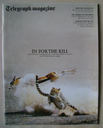 <!--2015-10-24-->Telegraph magazine - In For The Kill cover (24 October 201