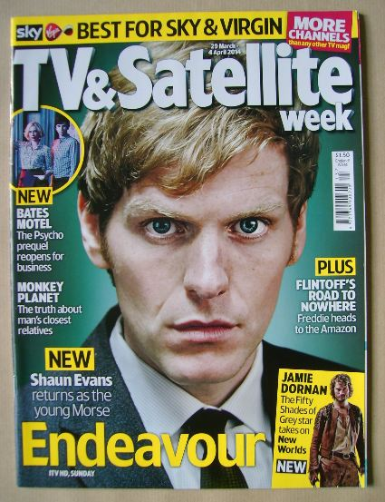 <!--2014-03-29-->TV & Satellite Week magazine - Shaun Evans cover (29 March