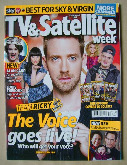 <!--2014-03-22-->TV & Satellite Week magazine - The Voice cover (22-28 Marc