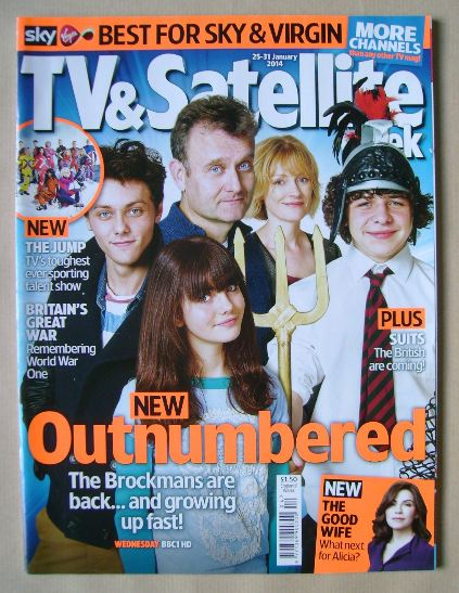 <!--2014-01-25-->TV & Satellite Week magazine - Outnumbered cover (25-31 Ja