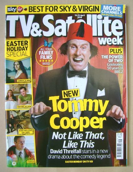 <!--2014-04-19-->TV & Satellite Week magazine - David Threlfall cover (19-2
