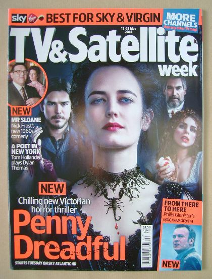 <!--2014-05-17-->TV & Satellite Week magazine - Penny Dreadful cover (17-23