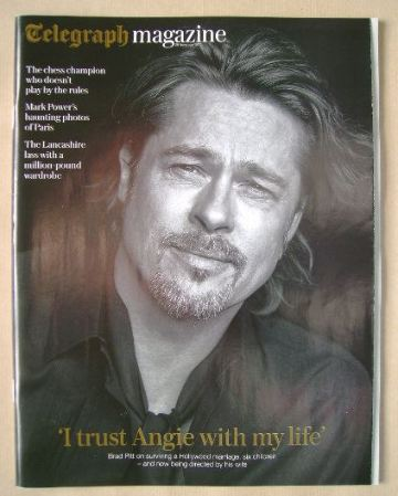 <!--2015-11-28-->Telegraph magazine - Brad Pitt cover (28 November 2015)