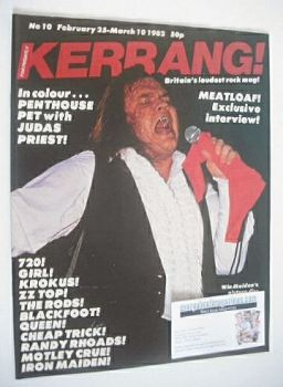 Kerrang magazine - Meatloaf cover (25 February - 10 March 1982 - Issue 10)