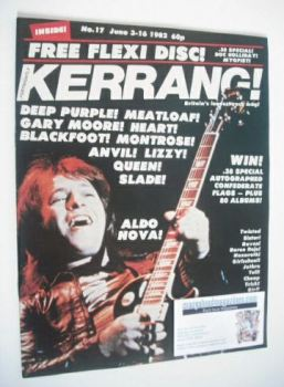 Kerrang magazine - Aldo Nova cover (3-16 June 1982 - Issue 17)