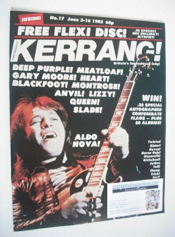 <!--1982-06-03-->Kerrang magazine - Aldo Nova cover (3-16 June 1982 - Issue