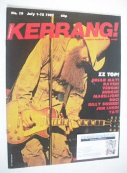 Kerrang magazine - ZZ Top cover (1-15 July 1982 - Issue 19)