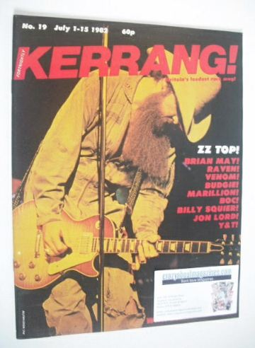 <!--1982-07-01-->Kerrang magazine - ZZ Top cover (1-15 July 1982 - Issue 19