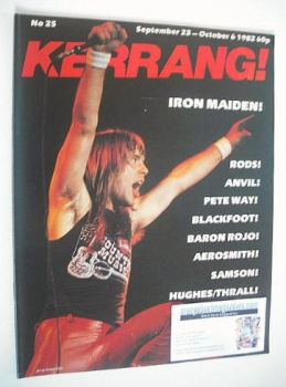 Kerrang magazine - Iron Maiden cover (23 September - 6 October 1982 - Issue 25)