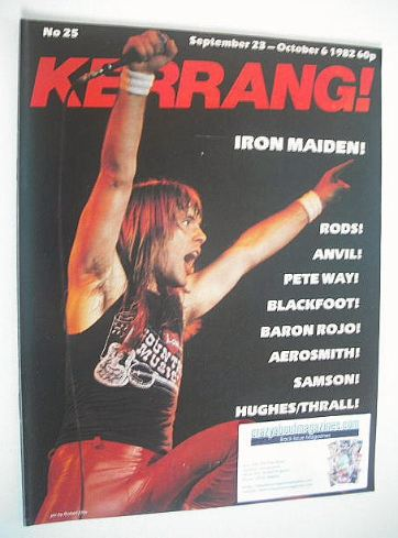 <!--1982-09-23-->Kerrang magazine - Iron Maiden cover (23 September - 6 Oct