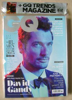 British GQ magazine - October 2015 - David Gandy cover