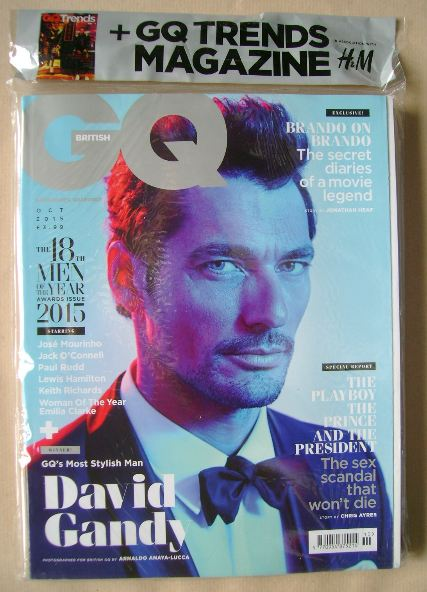 <!--2015-10-->British GQ magazine - October 2015 - David Gandy cover