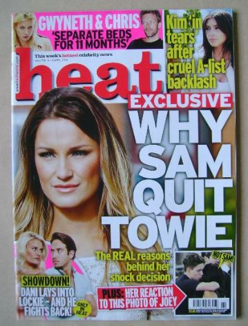 <!--2014-04-05-->Heat magazine - Sam Faiers cover (5-11 April 2014)