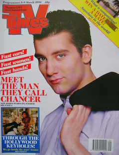 <!--1990-03-03-->TV Times magazine - Clive Owen cover (3-9 March 1990)