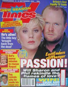 <!--1994-09-10-->TV Times magazine - Letitia Dean and Steve McFadden cover