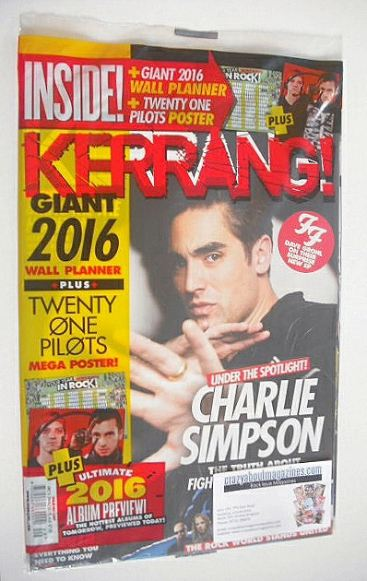 <!--2015-12-05-->Kerrang magazine - Charlie Simpson cover (5 December 2015