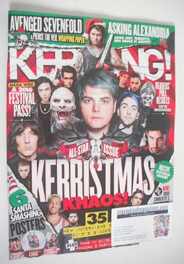 <!--2015-12-19-->Kerrang magazine - Christmas Issue (19 December 2015 - Iss