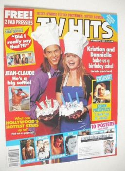 TV Hits magazine - September 1992 - Kristian Schmid & Danniella Westbrook cover