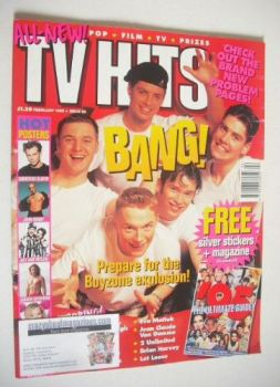 TV Hits magazine - February 1995 - Boyzone cover