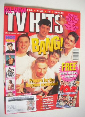 <!--1995-02-->TV Hits magazine - February 1995 - Boyzone cover