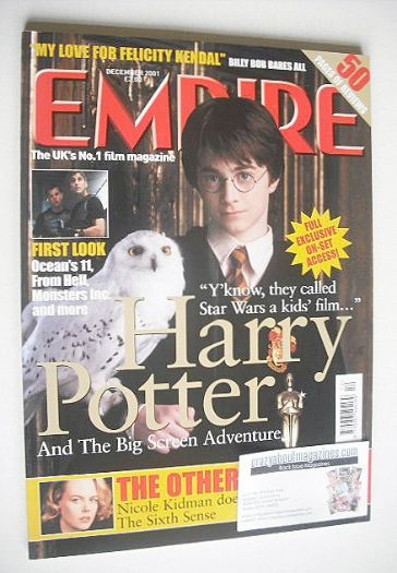 <!--2001-12-->Empire magazine - Daniel Radcliffe Harry Potter cover (Decemb
