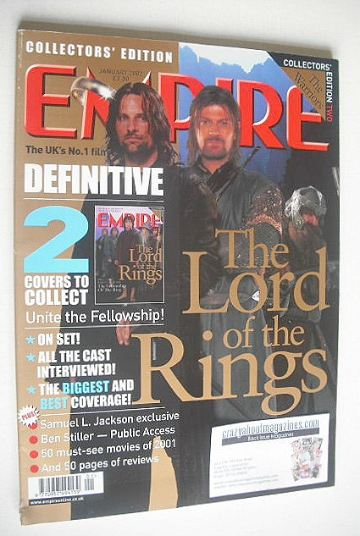 <!--2002-01-->Empire magazine - The Hobbits Collector's Edition cover (Janu