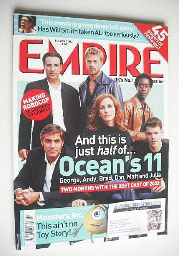 <!--2002-03-->Empire magazine - Ocean's 11 cover (March 2002 - Issue 153)