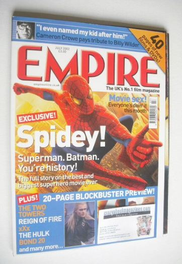 <!--2002-07-->Empire magazine - Spiderman cover (July 2002 - Issue 157)