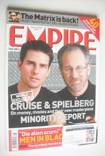 <!--2002-08-->Empire magazine - Tom Cruise and Steven Spielberg cover (Augu