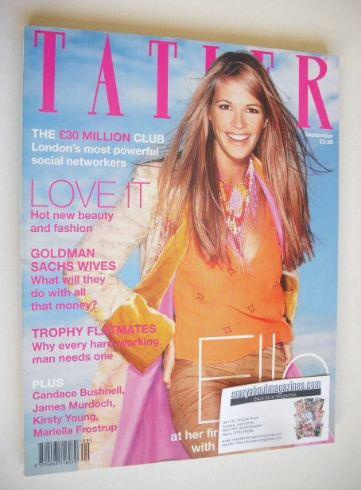 <!--1999-09-->Tatler magazine - September 1999 - Elle Macpherson cover