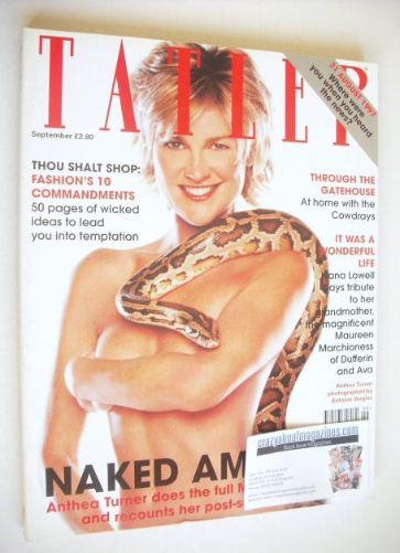<!--1998-09-->Tatler magazine - September 1998 - Anthea Turner cover
