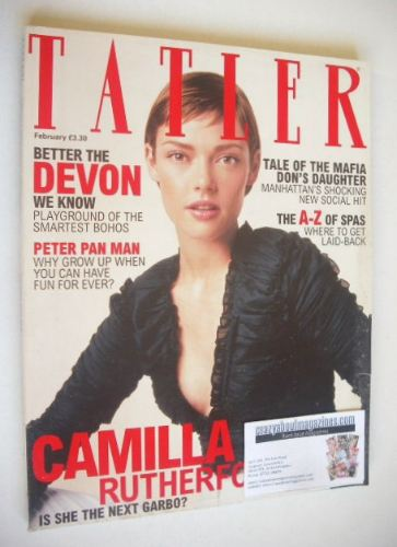 <!--2002-02-->Tatler magazine - February 2002 - Camilla Rutherford cover