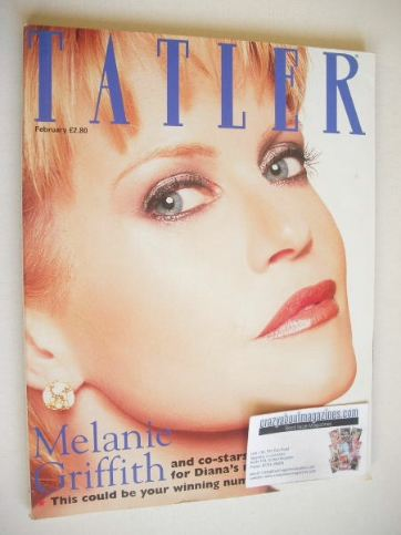 <!--1998-02-->Tatler magazine - February 1998 - Melanie Griffith cover