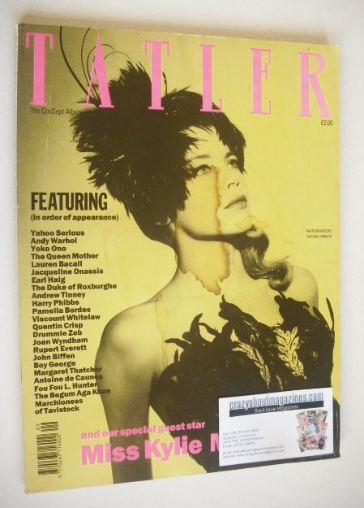 <!--1989-09-->Tatler magazine - September 1989 - Kylie Minogue cover