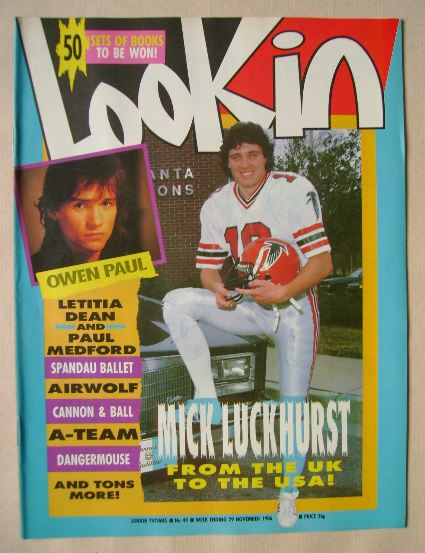 <!--1986-11-29-->Look In magazine - Nick Luckhurst cover (29 November 1986)