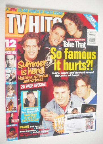 <!--1994-07-->TV Hits magazine - July 1994 - Take That cover