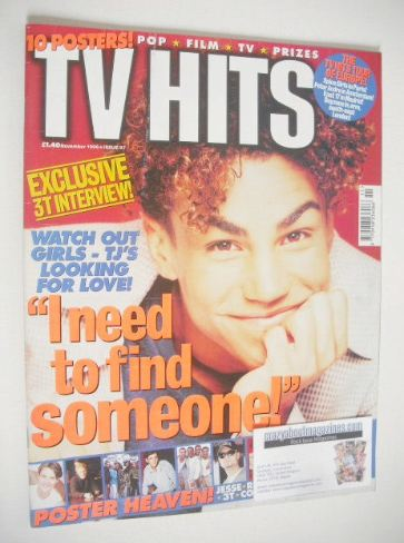 <!--1996-11-->TV Hits magazine - November 1996 - TJ cover