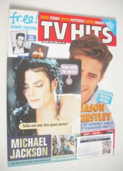 TV Hits magazine - August 1992 - Jason Priestley cover