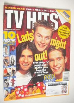 TV Hits magazine - January 1996 - Lads' Night Out cover