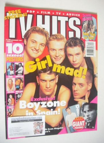 <!--1995-12-->TV Hits magazine - December 1995 - Byzone cover