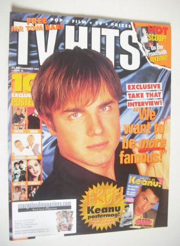 <!--1995-11-->TV Hits magazine - November 1995 - Gary Barlow cover
